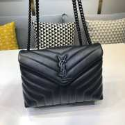 YSL MONOGRAM LOULOU SMALL SIZE ALL BLACK - 1
