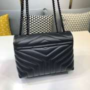 YSL MONOGRAM LOULOU SMALL SIZE ALL BLACK - 6
