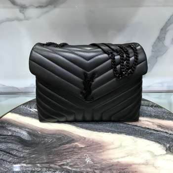 YSL MONOGRAM LOULOU MEDIUM SIZE ALL BLACK