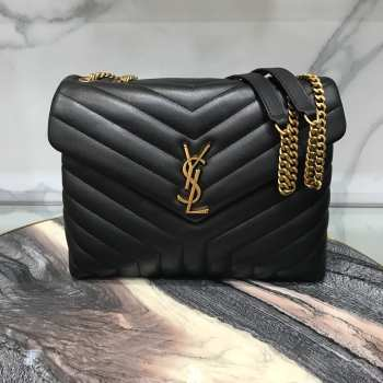YSL MONOGRAM LOULOU MEDIUM SIZE GOLD HARDWARE