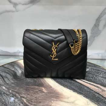 YSL MONOGRAM LOULOU SMALL SIZE GOLD HARDWARE