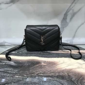 YSL MONOGRAM LOULOU SMALL SIZE SILVER HARDWARE