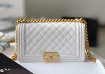 Chanel Medium Leboy Caviar Leather in White