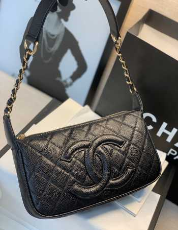 Chanel Axillary Black Bag