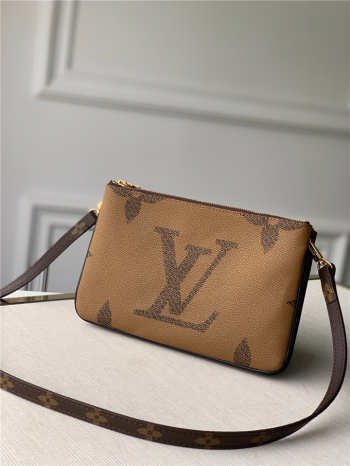 UUbags louis vuitton pochette double zip bag