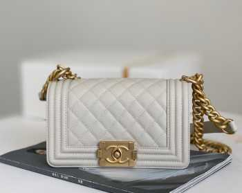 UUbags Chanel Boy bag Small size in white