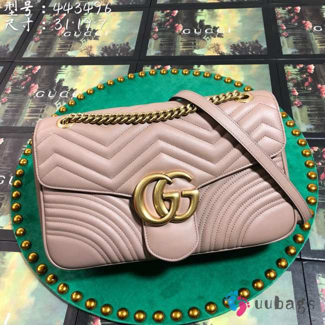 UUbags Gucci Marmont Dusty pink Large size