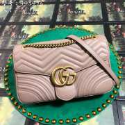 UUbags Gucci Marmont Dusty pink Large size  - 2