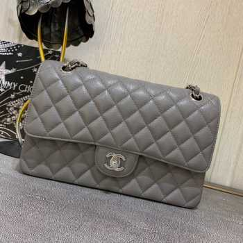UUbags Chanel 1112 Gray medium size 2.55 caviar black gold
