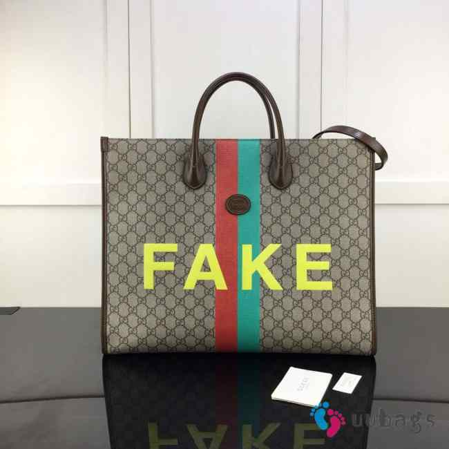 UUbags Gucci 'Fake/Not' print large tote bag