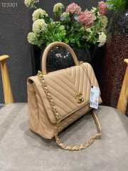 UUbags Chanel Coco Top Handle Bag Beige - 6
