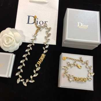 UUbags Dior Bracelet necklace set