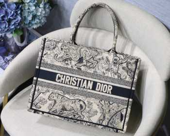 UUbags Dior Book Tote Black Tiger small size
