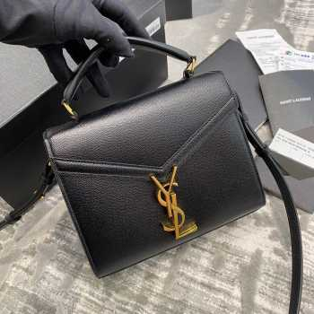 UUbags YSL CASSANDRA MINI TOP HANDLE BAG Black