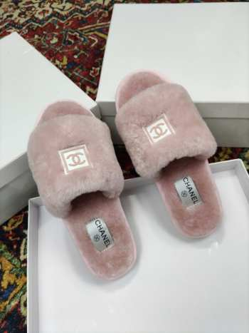 UUbags Chanel slippers black&pink&white