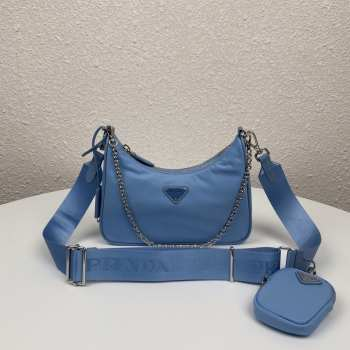 UUbags Prada Re-Edition 2005 nylon shoulder bag Blue