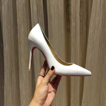 Christina Louboutin Heels in White