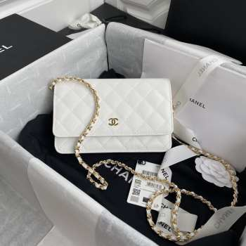 Chanel WOC Caviar Leather in White