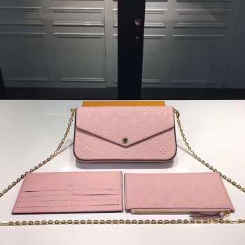 UUbags LV Pochette Felicie in pink