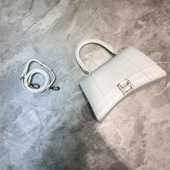 UUbags BALENCIAGA HOURGLASS SMALL BAG White